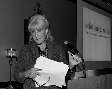Susan Wornick, anchorwoman and reporter. Fundraiser: Solutions at Work, Working Together to End Homelessness