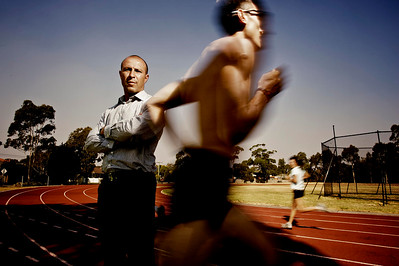 Former Athletics Australia's (AA) High Performance Manager, Eric Hollingsworth, photographed for Inside Sport magazine.