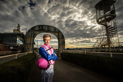 Ben Allen, jockey. Photographed for VRC Carnival magazine