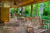 A spacious deck overlooking the surrounding Rhododendron forest!