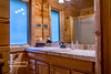 The master bath has a walk-in shower and new Ralph Lauren towels!