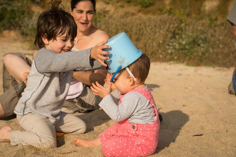 August 16, 2017 - Pacifica, California,   The Kenney Family Danae, Knute, Nicolai and Trinity at Montera Beach.   (Jessica Brandi Lifland/)