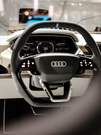 The Audi E-Tron dashboard - Samuel Zeller for the New York Times