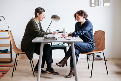 Portrait of Alexa Früh and Bettina Ginsberg, owners at Grimsel Basel.