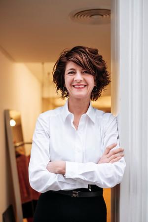 Portrait of Tanja Klein owner of Kleinbasel in Basel.