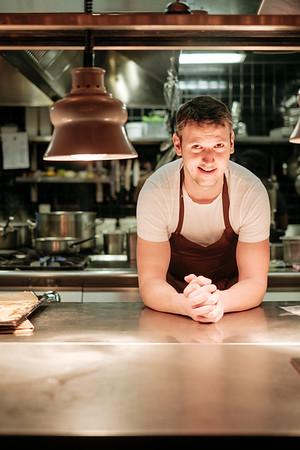 Portrait of Roger von Büren, Chef at Roter Bären restaurant Basel