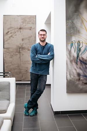 Portrait of Samuel Leuenberger, Director & Curator at Salts galerie Basel