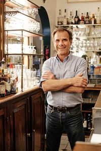 Portrait of Daniel Carugati, Café Léo, Geneva