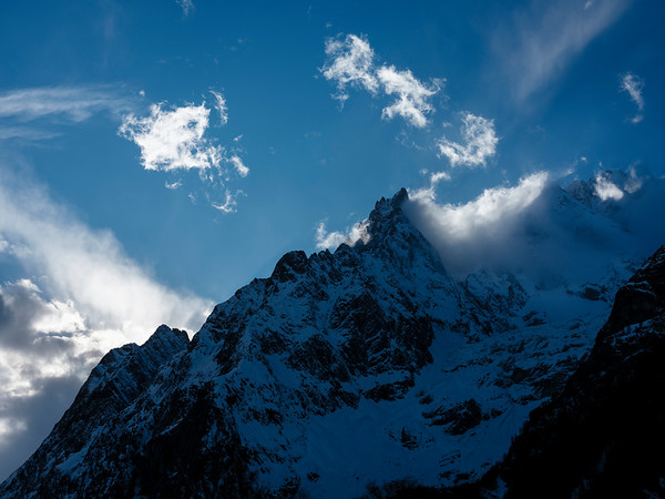 From the Italian access, view on the Mont-Blanc mountain (the top isn't visible, just a part of the mountain is) - Samuel Zeller for the New York Times