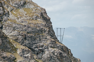 Electrical pylon in Verbier