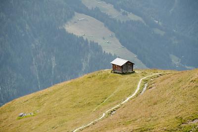 A small wooden cabin in La Chaux Verbier