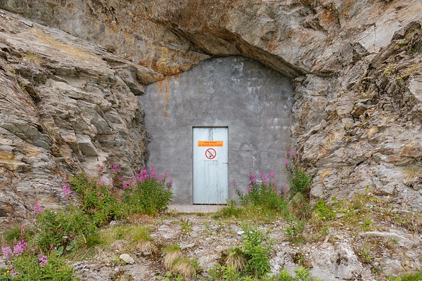 Door in the mountain Verbier