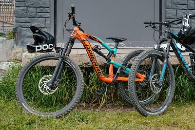 Mountain bikes in Verbier