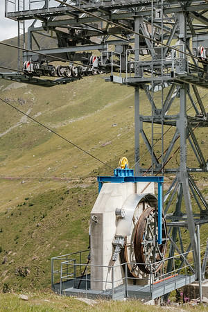 Cable car installations in Verbier