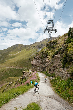 Mountain biking in Les Ruinettes Verbier