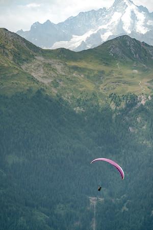 Paragliding in Verbier