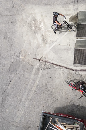 Mountain bikers in Verbier
