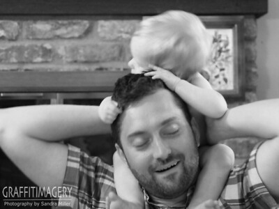 "Jack is hugging daddys head and going ""awwwwww""....and everyone else repeats it"