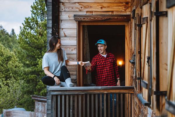Ütia de Börz - couple on the wooden balcony  // Interiors, lifestyle photography