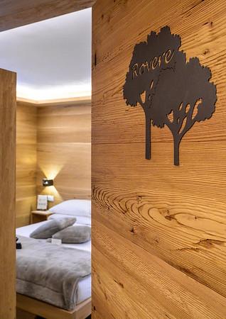 "Borgo Antico Sappada - ""Rovere"" room sneak peek, wooden door  // Interiors photography"