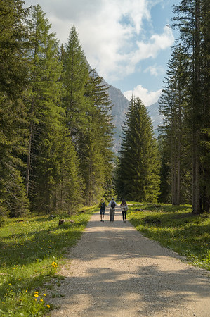 Camping Sass Dlacia - people exploring the surroundings  // Outdoor, lifestyle photography