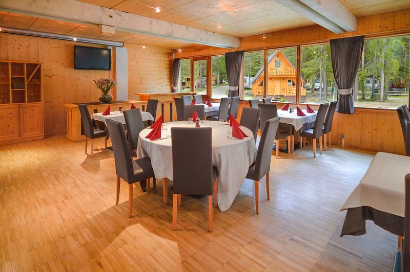 Camping Sass Dlacia - restaurant's main hall  // Interiors photography