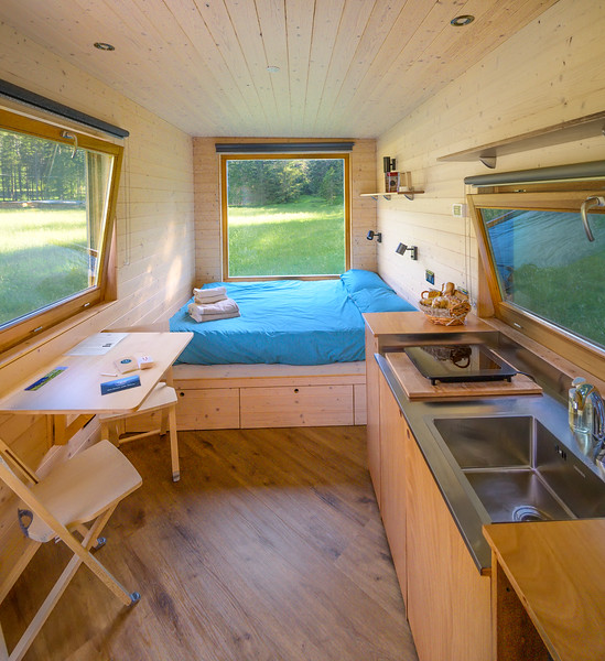 Friland - interiors detail of the tiny off-grid house  // Interiors photography