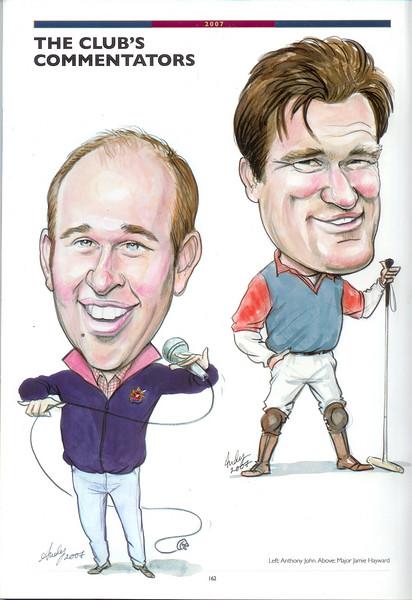 Guards Polo Magazine illustrations