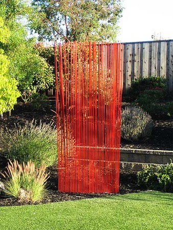 Reeds curtain (4 reeds sculptures together)