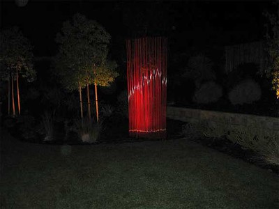Reeds Sculpture in Powder Coated Red (LARGE)