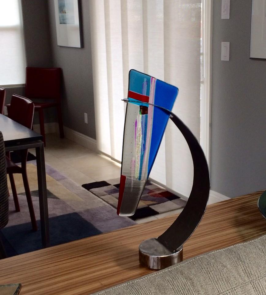 Cohn Wedge Glass artwork commission