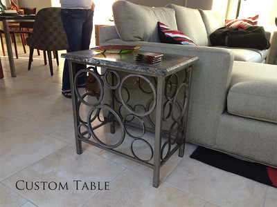 End Table with rings
