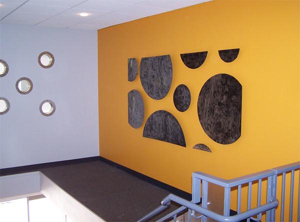 """""""Fluency"""" wall sculpture. 4' x 8'"""