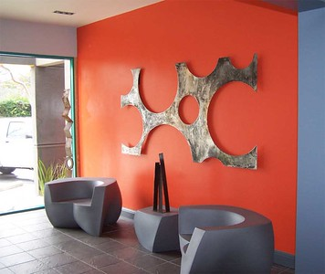 """""""Global"""" wall sculpture. 4' x 8'"""