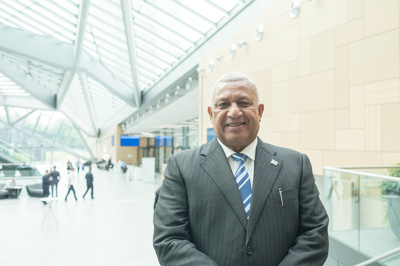 """I see myself as very much a people's President and undoubtedly by the end of this process, a guy called Frank from Fiji will have selfies with people from all over the world"", Frank Bainimarama"