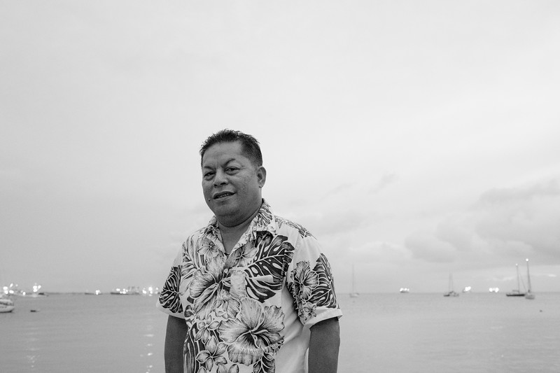 """It is amazing to clearly see in aerial images how over time climate change has affected our low lying islands. With climate change you could say that Mother Nature is calling us"" - Melvin, Director of the Alele Museum, Marshall Islands"