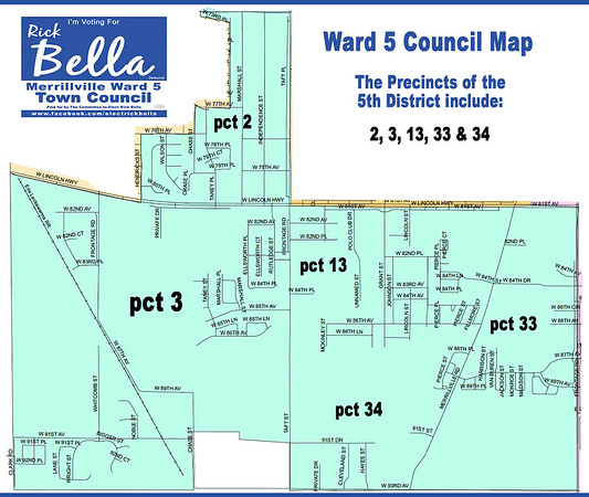 Ward 5 Map with Pricincts