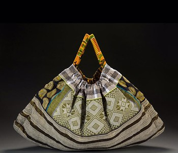 A bag made with African textiles by Dorothy Jett-Carter of West Bloomfield, who will be showing work at the Common Ground Birmingham Street Art Fair this weekend, Sept. 17-18. Photo courtesy of Dorothy Jett-Carter.