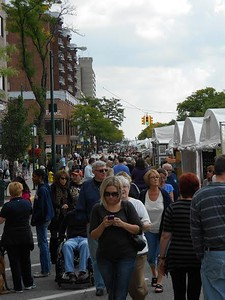 Crowds wander the the Common Ground Birmingham Street Art Fair which will take place this weekend, Sept. 17-18.