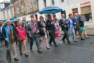 Selkirk Common Riding 2016 Colour Bussing, Town procession