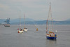 Commonwealth Flotilla Departing James Watt Dock Marina - 26 July 2014