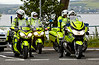 Police Escort Bikes at Gourock Ferry Terminal - 14 July 2014