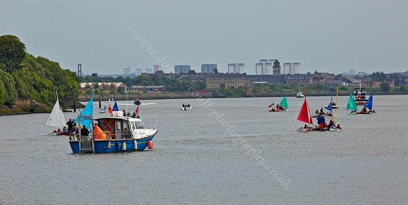 'Race To The Games' Flotilla near Erskine Bridge - 2 July 2014