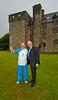 Baton Bearer and Councillor Michael McCormick at Newark Castle - 14 July 2014