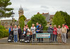 Crowd Starts to assemble at Quarriers Village for the Queen's Baton Arrival - 14 July 2014
