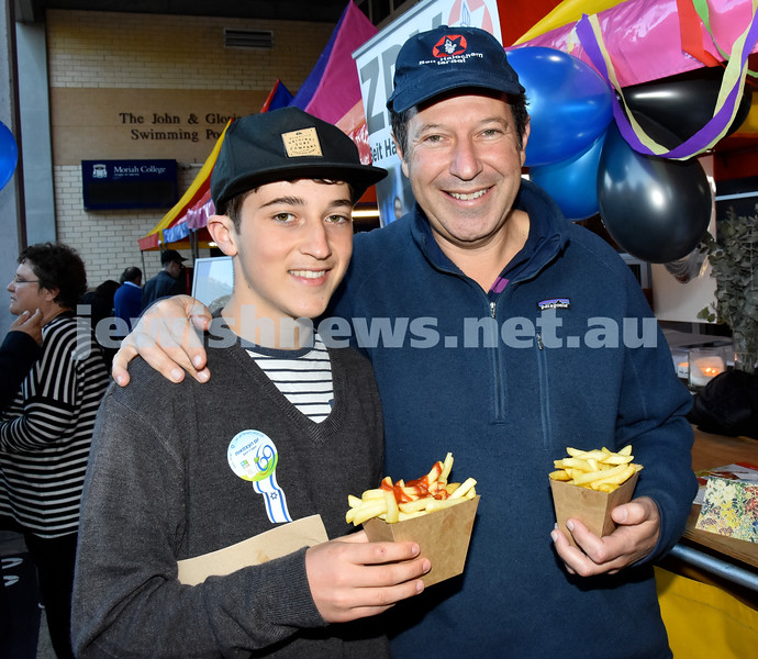 Communal Yom Haatzmaut function at Moriah College. Ari and Ray Kellerman. Pic Noel Kessel