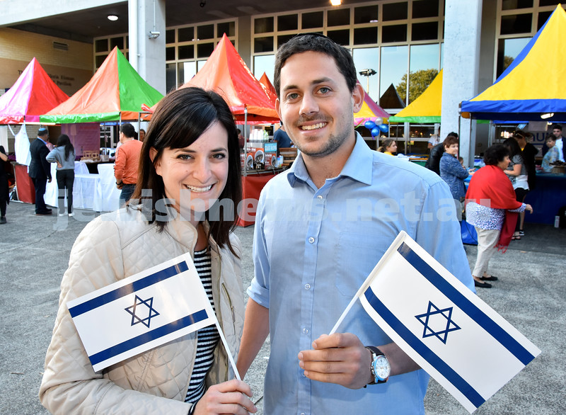 Daniella Edelman and Aaron Taub at Yom Haatzmaut function. Pic Noel Kessel