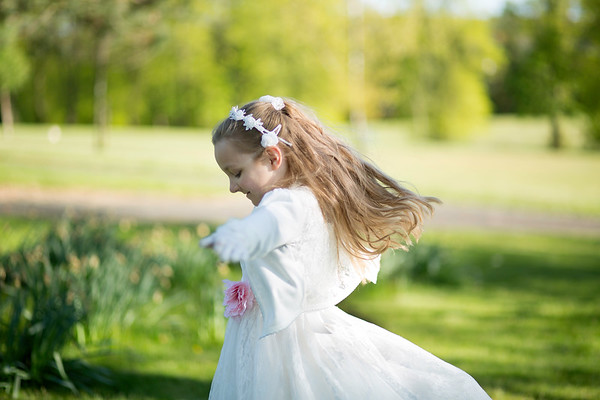 First Holy Communion outdoor photography session Glasgow Paisley