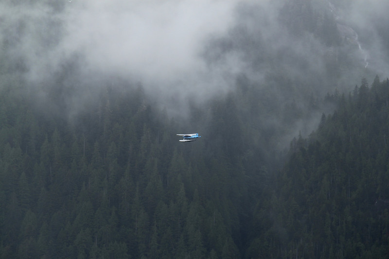 Plane in the Misty Fjords