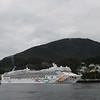 Norwegian Pearl docked in Ketchikan